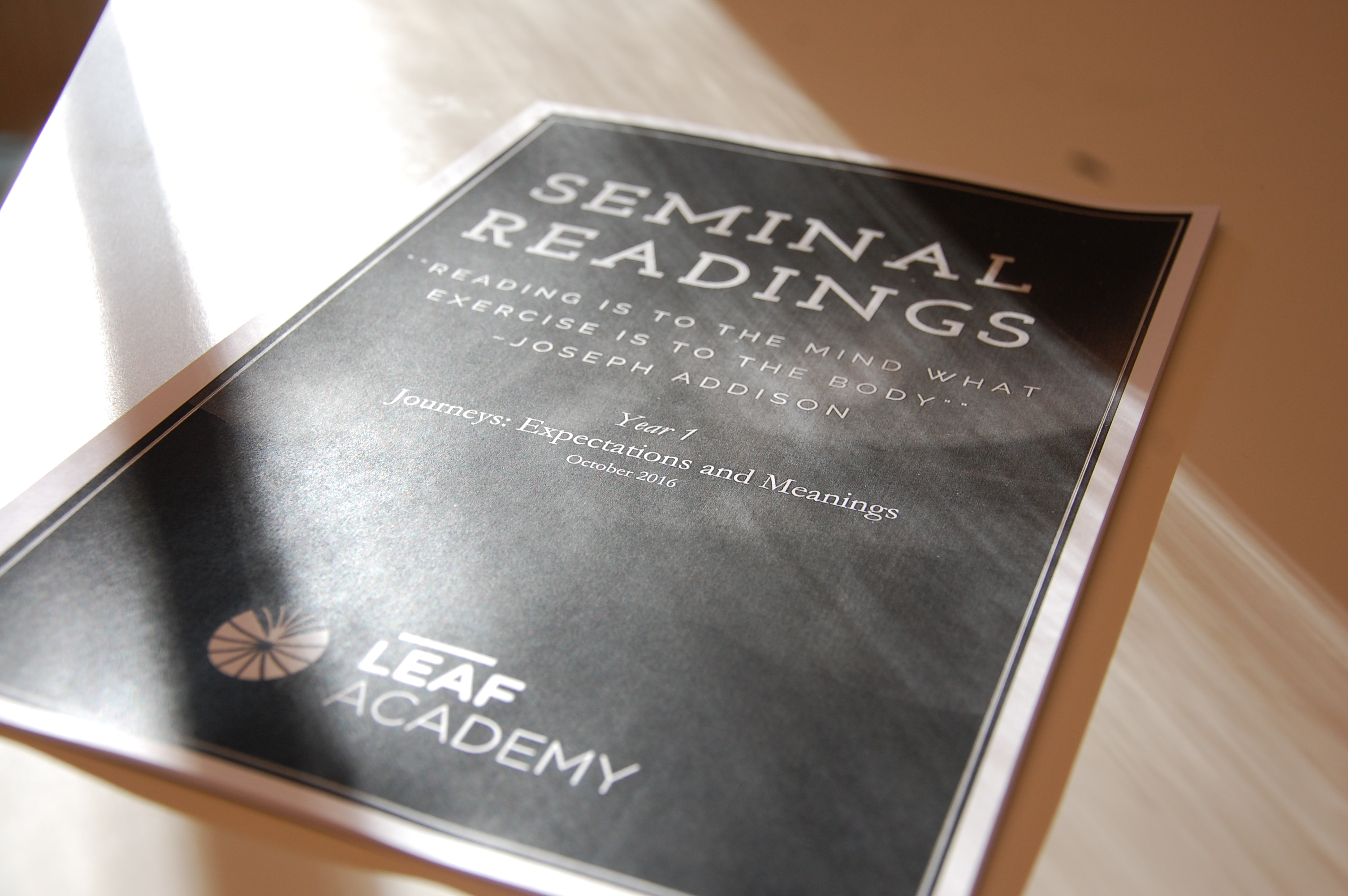 Seminal reading at LEAF Academy